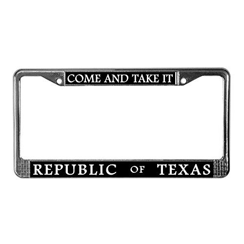 Texas License Plate Frames - CafePress - Republic Of Texas License Plate Frame - Chrome License Plate Frame, License Tag Holder