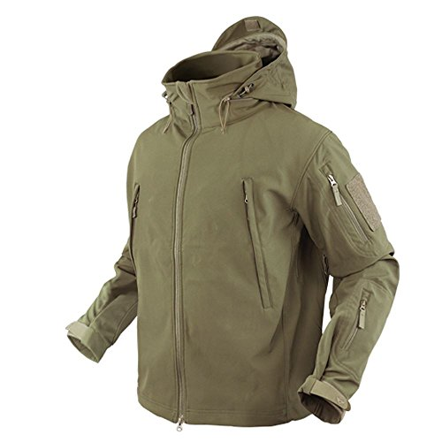 (Condor Summit Soft Shell Tactical Jacket, Color Coyote Tan, Size Large)