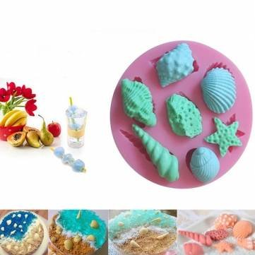UR Bakeware Sea Shells Star Fish Silicone Mould Cake Chocolate Ice Cake Decorating Mold