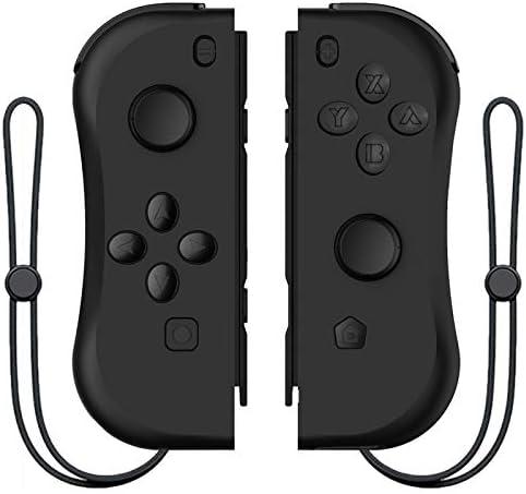 MINHUISHANGMAO NintendスイッチコンソールR25用ワイヤレスBluetooth左右ゲームコントローラーゲームパッド用NintendスイッチNSゲーム (色 : ブラック)