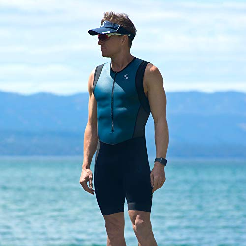 Synergy Triathlon Tri Suit Men's Trisuit (Blue/Geo, Small) by Synergy (Image #6)