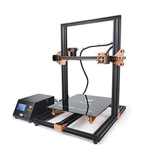 TEVO Tornado 3D Printer, DIY Printer 3D Printing impresora 3D Printer with Titan Extruder for PLA, ABS, TPU, Copper, Wood, and Flexible Filaments, 300 x 300 x 400mm Gold and Black