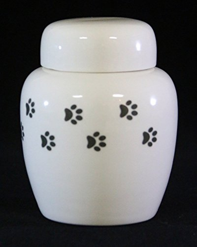 Ceramic Urn with Paws by Richland Pet Cremation & Memorials