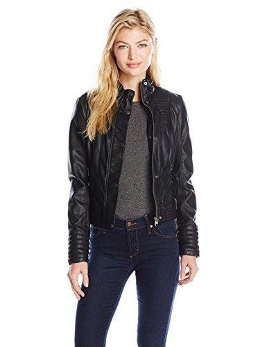 best site wide range most fashionable Jessica Simpson Women's Faux Leather Jacket, Black, XS ...
