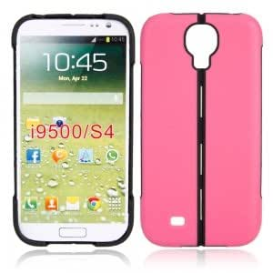 Foldable Plastic + TPU Case for Samsung i9500 Black and Red 44g