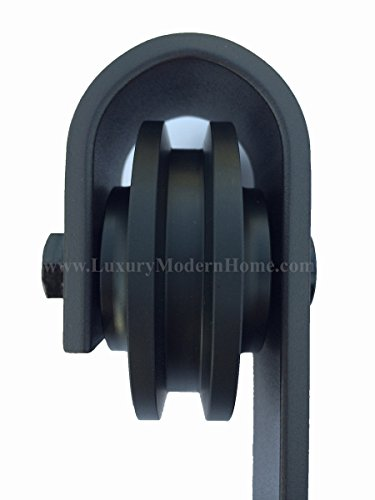 sbd - AUSTIN Sliding Barn Door Hardware - 2nd door hardware ONLY ORB Oil Rubbed Bronze by www.LuxuryModernHome.com (Image #3)