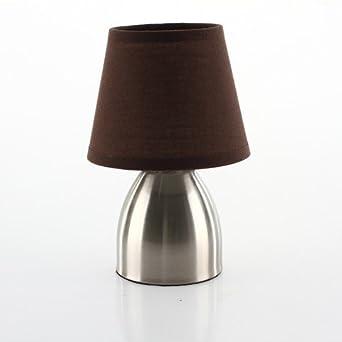 Abat De Marron Touch Pied Jour Metal Lampe Chevet WCxoredB