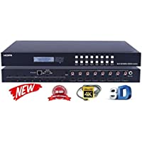 8x8 HDMI 4K MATRIX SWITCHER HDCP2.2 HDTV ROUTING SELECTOR SPDIF AUDIO CRESTRON CONTROL4 SAVANT HOME AUTOMATION