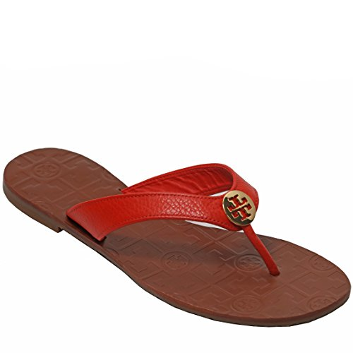 8ee37b0d965c89 Tory Burch Thora Flip Flops Saffiano Leather Thong Sandals (7