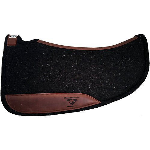 Diamond Wool Contoured Tough Barrel Saddle Pad ()