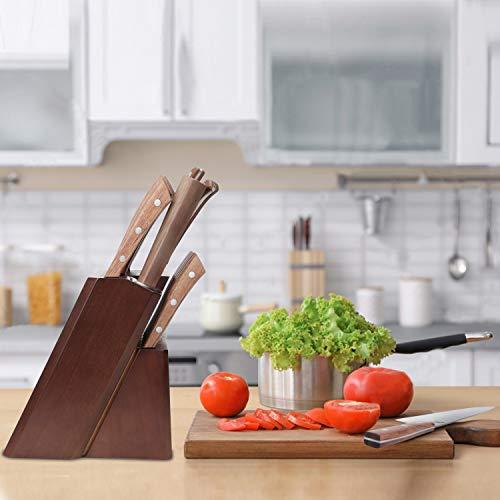 Vestaware Knife Set, 16-Piece Chef Knife Set with Wooden Block, StainlessSteel Kitchen Knives Set with Knife Sharpener, 6 Steak Knives and BonusScissors by Vestaware (Image #5)