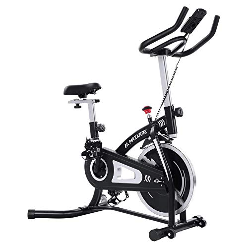 MaxKare Exercise Bike Stationary Bike Cycling Bike Belt Drive with Magnetic Resistance Bike Computer Ipad Holder for Home Workout Bike Training MaxKare