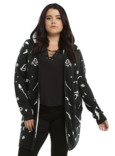 Harry Potter Symbols Girls Hooded Flyaway Cardigan Plus Size