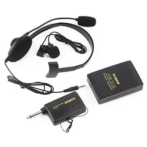FayOK VHF Stage Wireless Lavalier Lapel Headset Microphone System Mic FM Transmitter
