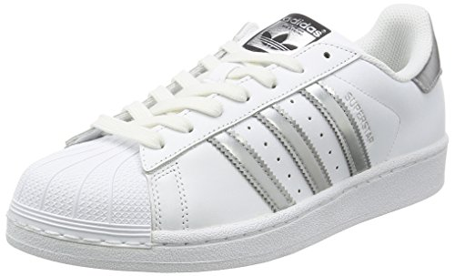 adidas Superstar Womens Trainers White Silver – 7 UK