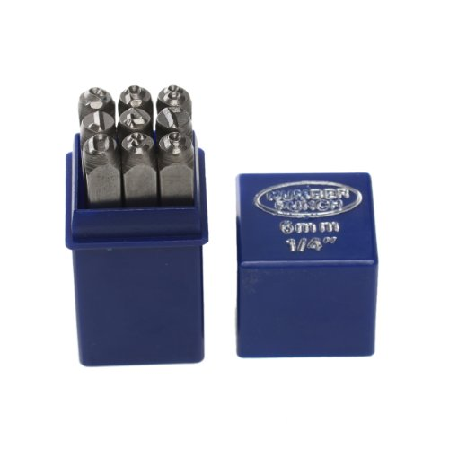 6mm Number Set 0-9 Stamp Punch Set Hardened Steel for Metal Wood, Leather