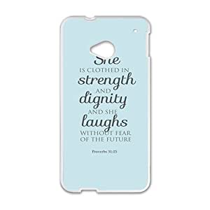 Happy she strength dignity laughs Phone Case for HTC One M7