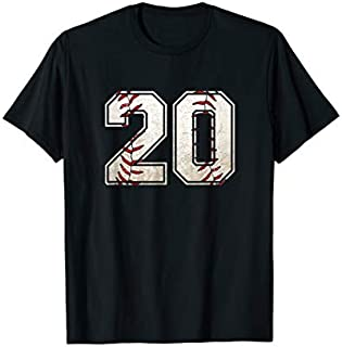 20th Birthday Baseball Sports 20 Years Old  for Boys T-shirt | Size S - 5XL