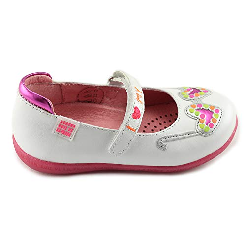 (Agatha Ruiz De La Prada Girls White Mary Janes Leather Shoes with Arch and Ankle Support (142940 B-Blanco))