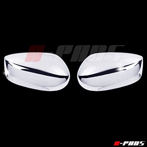 A-PADS 2 Chrome Mirror Covers for Honda ACCORD 2008-2012 - Chromed Cap Mirrors (Honda Accord Chrome Mirror)