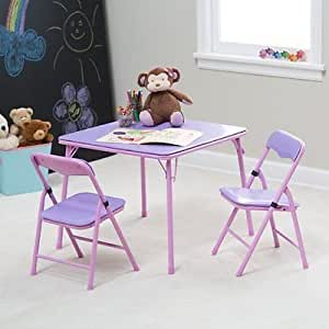 showtime childrens folding table and chair set purple 1 kitchen dining. Black Bedroom Furniture Sets. Home Design Ideas