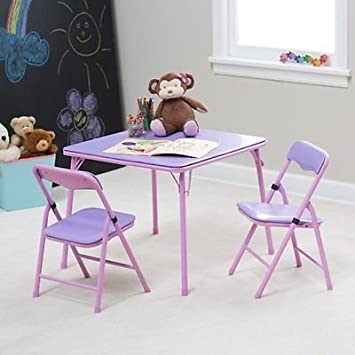Amazoncom Showtime Childrens Folding Table and Chair Set Purple