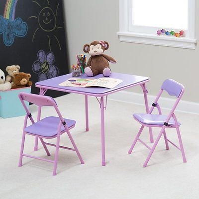 Showtime Childrens Folding Table and Chair Set Purple 1 & Amazon.com: Showtime Childrens Folding Table and Chair Set Purple ...