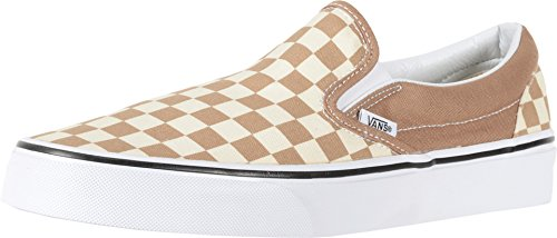 (Vans Classic Slip On Checkerboard Beige/Brown/White Unisex Shoes Women/Men (11.5 men/13.0 Women) )