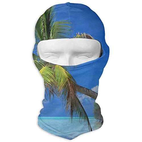 Balaclava Palm Tree White Beach Full Face Masks Ski Headwear Motorcycle Hood For Cycling Sports Hiking