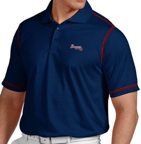 "Atlanta Braves Antiqua MLB ""Icon"" Performance Polo Shirt - Navy"