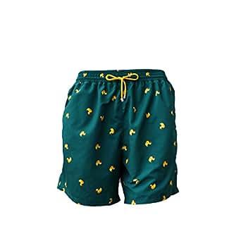 Aqüe Apparel - Traje de baño Duckies de Color Verde con Patos (S)