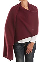 Dalle Piane Cashmere Stole 100 Cashmere Made In Italy Color Bordeaux One Size