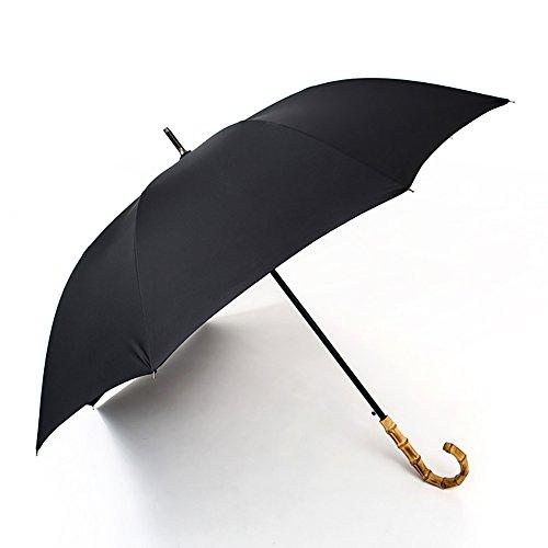 Vintage Long Handle Umbrella Self-opening Bamboo Handle British Style Stick Umbrella Man Women (Color : B)