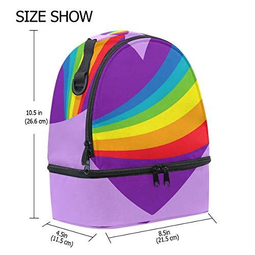 réglable Cooler avec Rainbow Pride Alinlo coloré l'école isotherme Boîte à Tote pour Pincnic bandoulière lunch à Jour Sac OCUgqCw