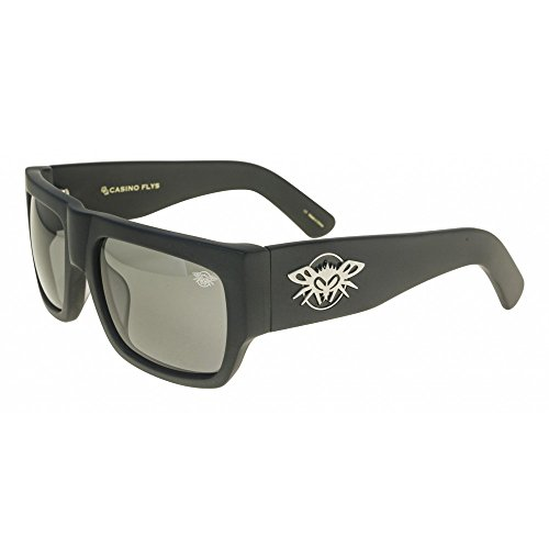 Black Flys Casino Fly Sunglasses - Matte Blk - Smoke - Fly Sunglass Black