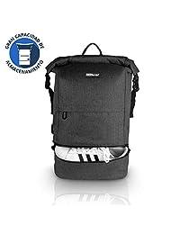"""Redlemon Mochila Backpack Roll Top Antirrobo Impermeable, Expandible de Gran Capacidad de Almacenamiento, Compartimento Multiusos y para Laptop de 15"""" y Tablet, con Puerto USB, Enrollable, Resistente, Ideal para Viajes y Campamentos"""