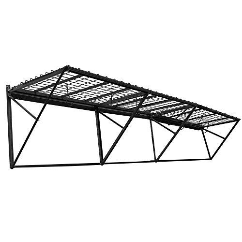 Proslat 60012 ProRack Heavy Duty Wall Mount Metal Storage Shelf with 12' Section, Charcoal Granite - 12' Wall Shelf