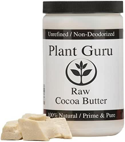 Raw Cocoa Butter 100% Pure 16 oz. (PACKAGED IN HDPE FOOD GRADE JAR WITH A SCREW CAP TO ENSURE FRESHNESS)