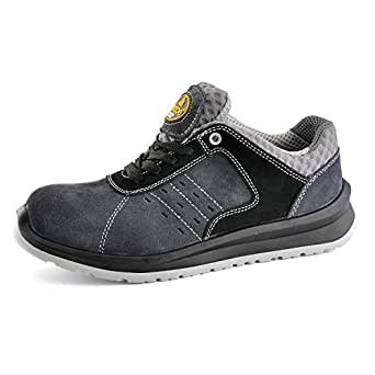 SAFETOE Men's Work Safety Shoes - L7331 Lightweight Sport Industrial and Construction Composite Toe Work Shoes Gray