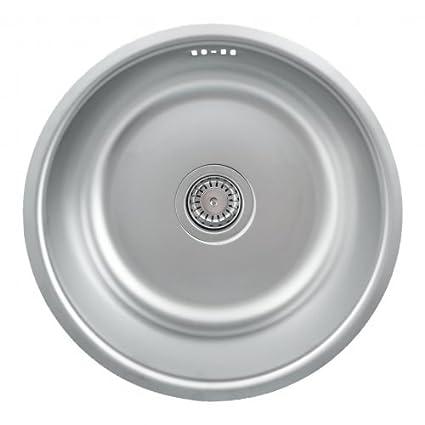 Lavello da cucina sttotop /Lavandino Mizzo Sino 420/ lavabo rotondo ...