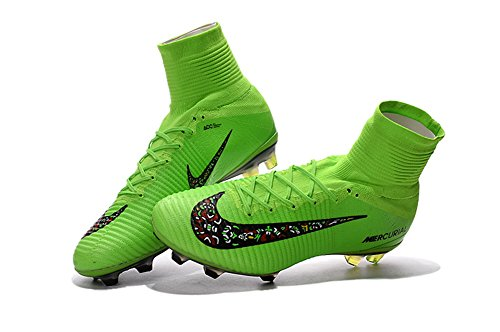 demonry Schuhe Herren Mercurial superfly V FG grün Fußball Stiefel