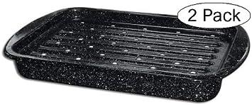 Granite Ware Roaster Broiler Set, 2-Piece Tw k