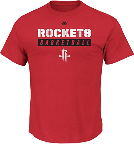 VF LSG NBA Houston Rockets Men's Proven Pastime Short Sleeve Crew Neck Tee, XX-Large, Athletic Red