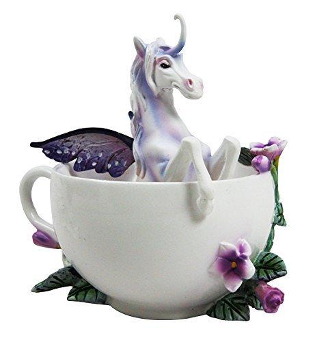 - Amy Brown Tea Cup Spring Iris Unicorn Collector Figurine