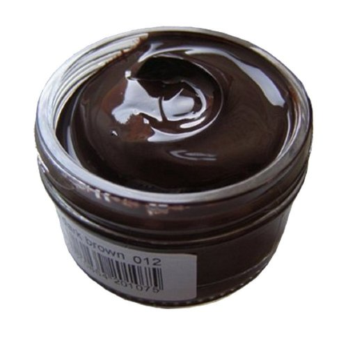 Woly Dark Brown Leather Shoe Cream Polish. Conditioner Cream for Designer Leather Shoes, Freshens Color