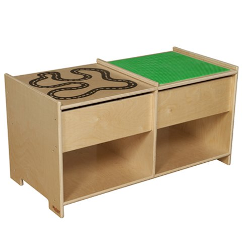 Wood Designs WD85699 Build-N-Play Table with Racetrack by Wood Designs