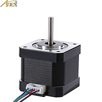 Anet 42 Stepper Motor for 3D Printer DIY CNC Robot, 1.8 Degree 0.9A 0.4N.M 42mm Stepper Stepping Motor Drive with 90cm Lead Cable for 3D printer - Black (1PCS)