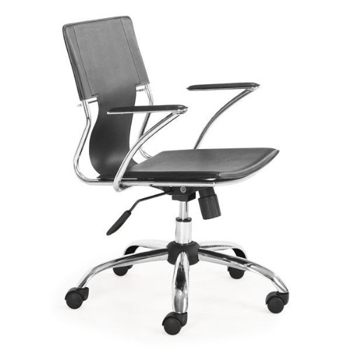 Zuo Modern 205181 Trafico - 33 Office Chair, Chrome/Black Finish ()