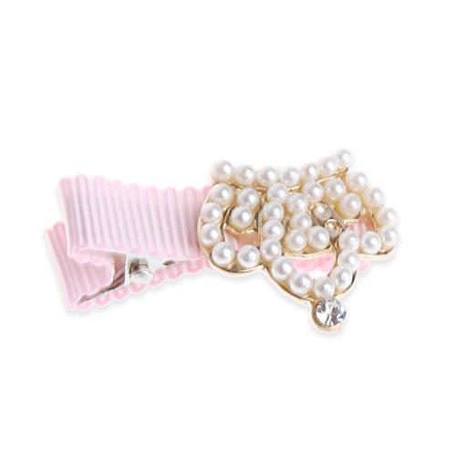 Milkhouse Baby Girl Crown Pearl Flower Princess Hair Clip Hair Accessories (3)