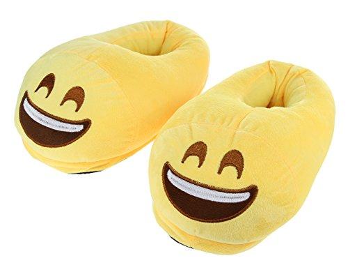 Casa Morbide Pantofole emoji Uomo Invernale Donna Colore Scarpe Eozy F Divertente Oq76WYBO8